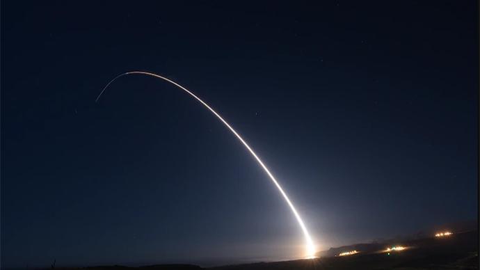 """美发射一枚""""民兵""""-3洲际导弹,今年已进行4次试射"""