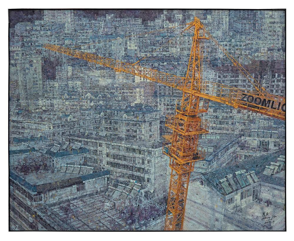《造城》张杰160×200 cm油画