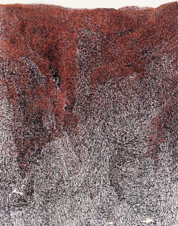唐允明《红岭》纸本水墨 280x175cm 1994年