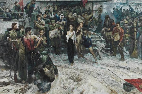 程丛林《 一九六八年x月x日雪》 布面油画 202x300cm 1979年