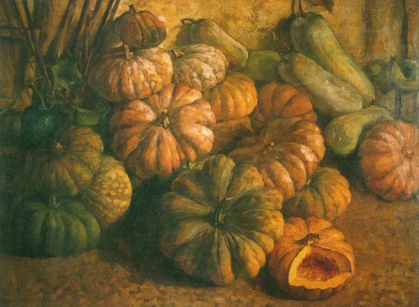 刘艺斯《南瓜》布面油画 120x90cm 20世纪50年代