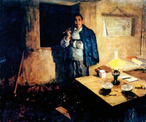 刘国枢《县委书记》布面油画 130x146cm 1965年