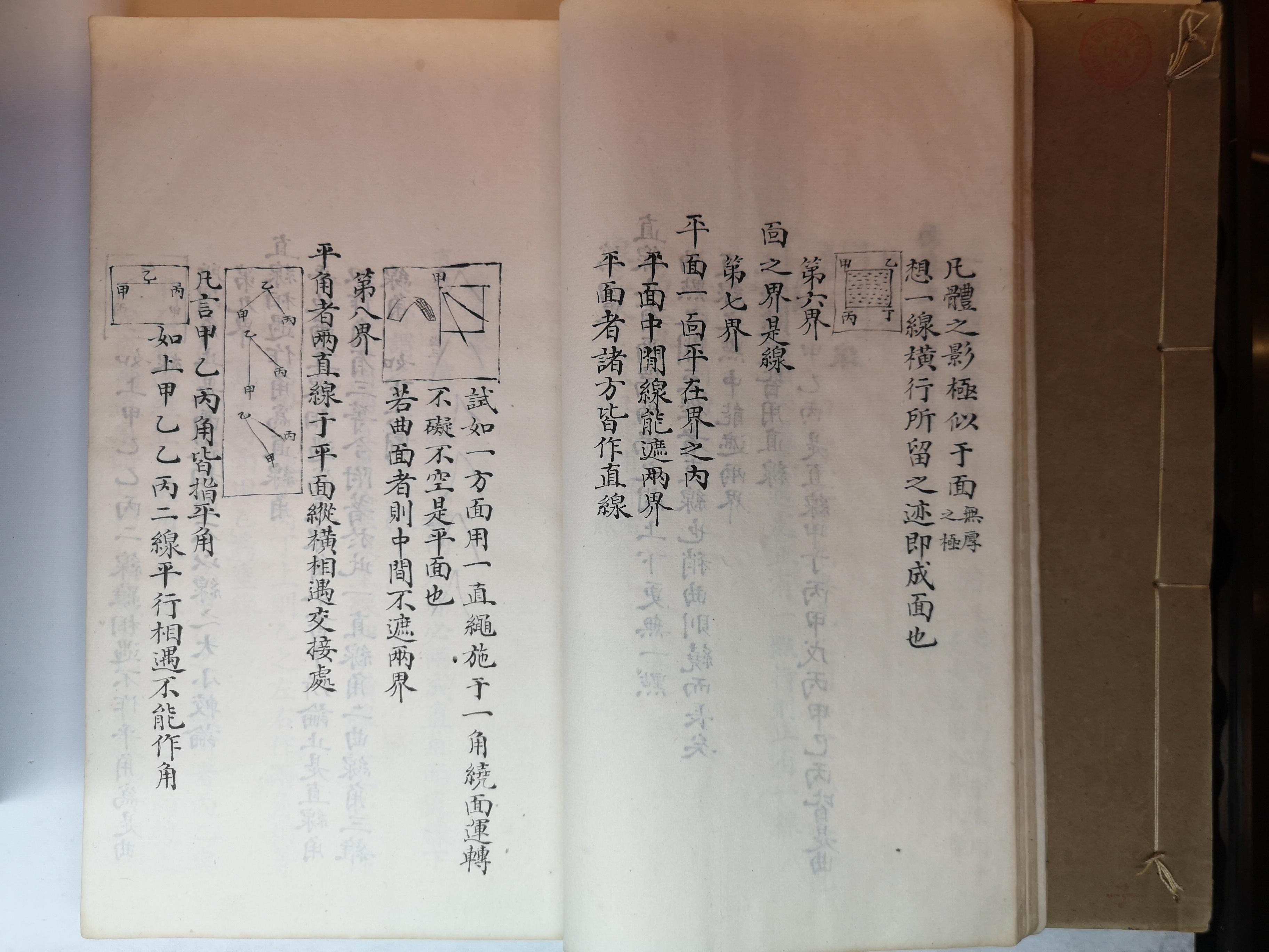 《几何原本》,利玛窦、徐光启(译),清抄本