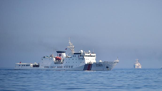 中國海警艦艇編隊今日在我釣魚島領海巡航
