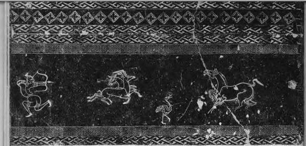 图4-1洛阳狩猎纹画像画像�K空心砖拓片