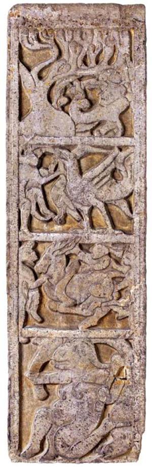 图6-1 临沂吴白庄汉墓前室北壁西立柱东面画像