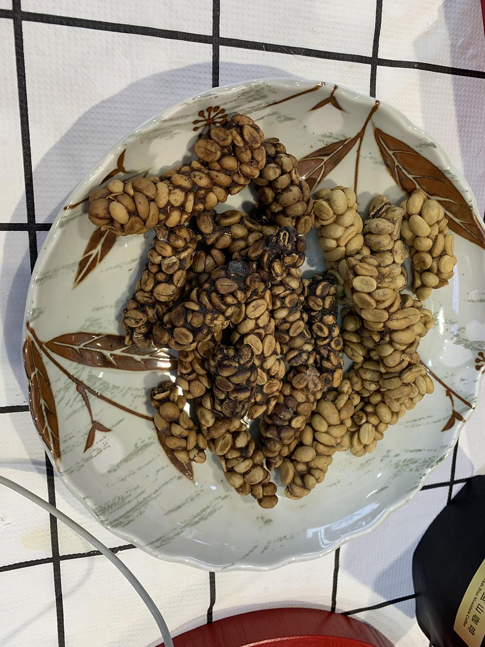晒干后的东帝汶野生麝香猫猫屎。图片均为澎湃新闻记者 栾晓娜 图