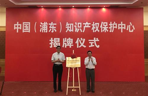 2017年7月,中国(浦东)知识产权保护中心揭牌仪式举行。 上海市知识产权局 图