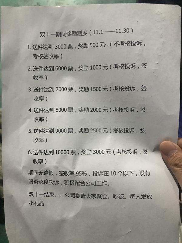双十一的奖励政策 澎湃新闻记者 沈文迪 图