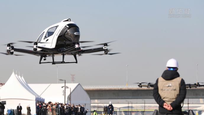 中国研制自动驾驶飞行器亮相韩国试飞活动