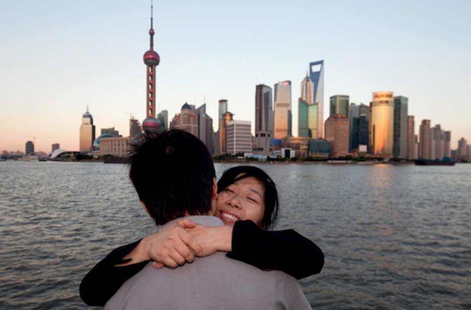 世专会时期中滩上一对情侣,上海,2010 年