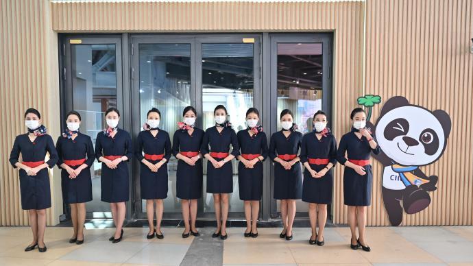 進博會|東航空姐志愿者保障要客服務,分享進博理念和故事