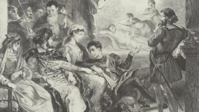 鑒賞|德拉克洛瓦的文學插圖:從《浮士德》到《哈姆雷特》