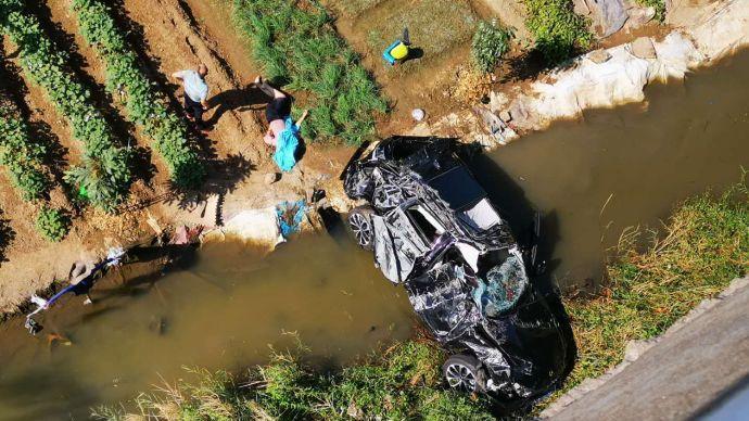 廣東中山小車墜橋事故續:4人僅輕傷已出院,安全帶救了他們