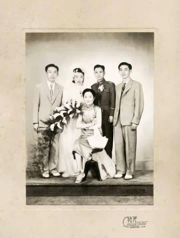 陆小曼参加陆宗麟与邱沈钧婚礼的旧影